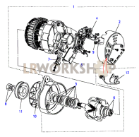 Alternator-Battery Sensed Part Diagram