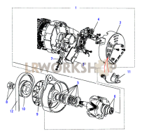 Alternator-Ignition Sensed Part Diagram