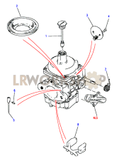 Carburetter Components-Stromberg Part Diagram