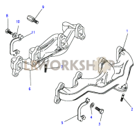 Exhaust Manifold-Without Heat Transfer Cover Part Diagram
