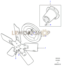 Fan Assembly-5 Blade Part Diagram
