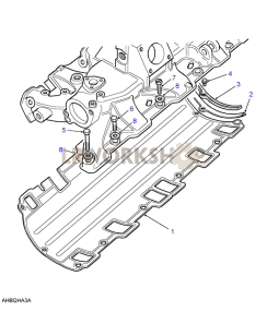 Inlet Manifold-Gasket Part Diagram