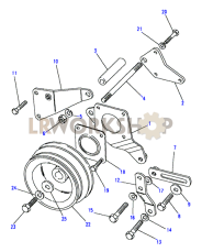 Power Steering Mountings Part Diagram