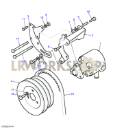 Power Steering Pump & Mountings Part Diagram