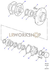 Front Hubs Part Diagram