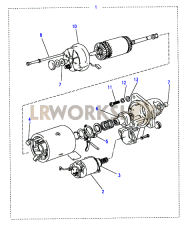 Starter Motor (AD only) Part Diagram