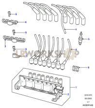 Ignition Coil & Leads Part Diagram