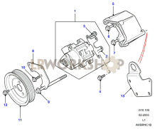 Power Steering Pump Part Diagram