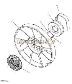 Viscous Drive & Fan Part Diagram