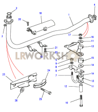 Front Exhaust Pipe Part Diagram