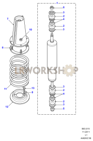 Shock Absorbers & Springs Part Diagram