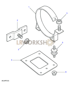 Air Filter Mountings Part Diagram