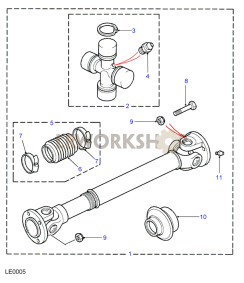 Propshaft Front Part Diagram