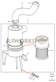 Air Filter Part Diagram