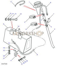 Evap Loss Control System Part Diagram