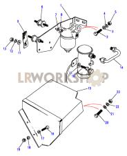 External Fuel Pump Mountings Part Diagram