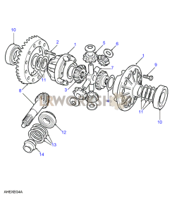 Crownwheel And Pinion - 4 Pinion Part Diagram