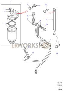 Fuel Filter & Pipes Part Diagram