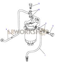 Fuel Filter Pipes Part Diagram
