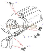 Fuel Pipes - Less Sedimentor Part Diagram