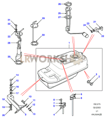 Fuel Tank Pump And Mountings Part Diagram