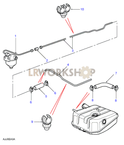 Rear Pipes Part Diagram