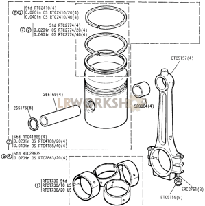 Connecting Rod and Piston Part Diagram