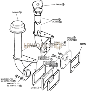 Side Cover and Oil Filler Part Diagram