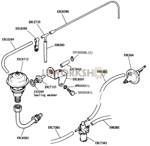 EGR Valve and pipe Part Diagram