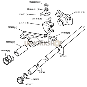 Inlet Valve Rockers Part Diagram