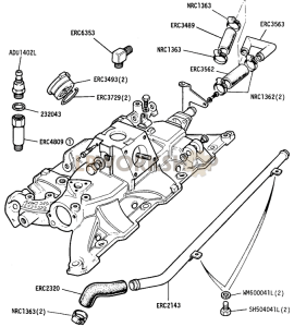 Inlet Manifold pipes and hoses Part Diagram