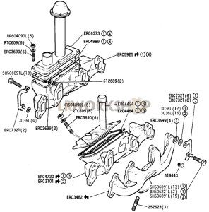 Exhaust manifold Part Diagram