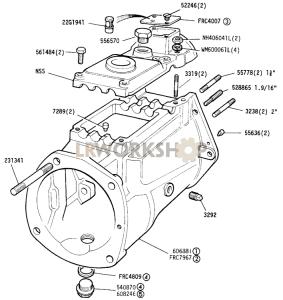 Main casing Part Diagram