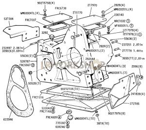 Transfer Casing Part Diagram