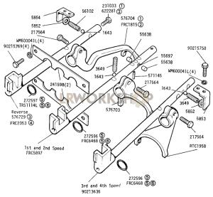 Selectors and Levers Part Diagram