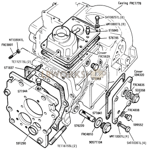 Main and Transfer Casing (Front Portion) Part Diagram