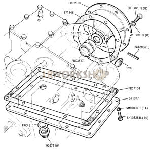 Main and Transfer Casing (Rear Portion) Part Diagram