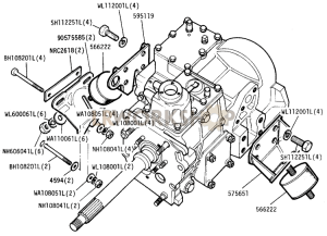 Gearbox Mountings Part Diagram