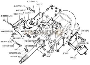 Gearbox Mountings Part Diagram