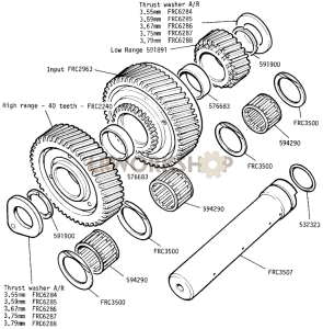 Intermediate Gears Part Diagram