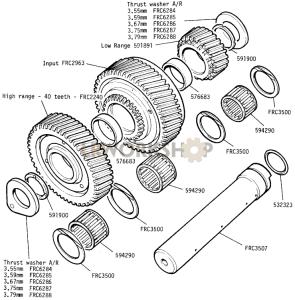 Intermediate Gears Part Diagram