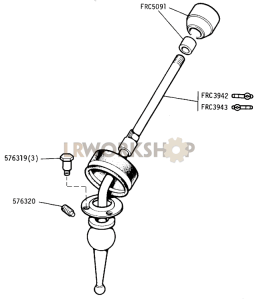 Main Gear Lever Part Diagram