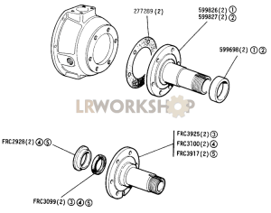 Stub Axle Part Diagram