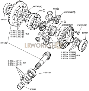 Differential, Front Axle Part Diagram