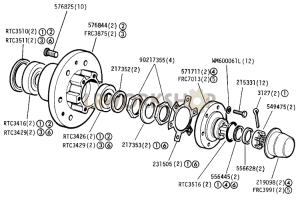 Front Hub Assembly Part Diagram