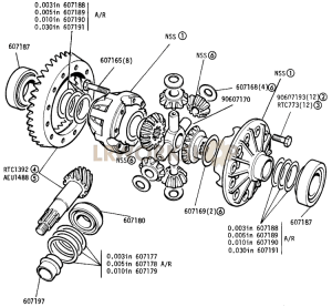 Differential, Rear Axle Part Diagram