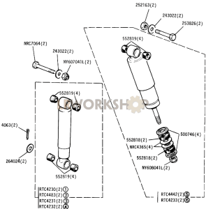Front and Rear Shock Absorbers Part Diagram