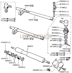 Drag Link Tube Assembly and Steering Damper Part Diagram