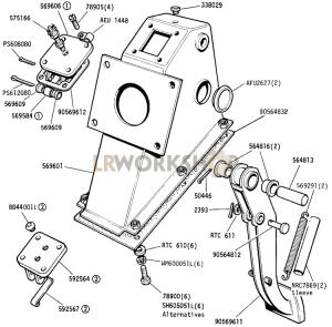 Pedal and Bracket Part Diagram
