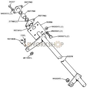 Handbrake Cross Shaft Part Diagram